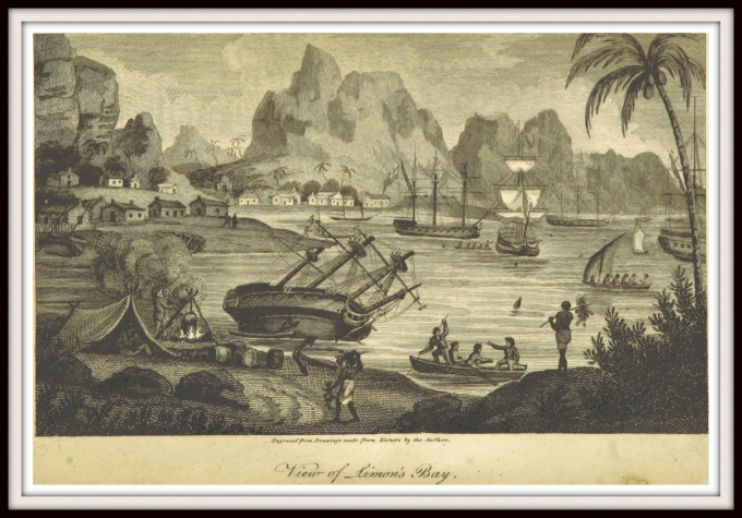 sketch from 1806 simons town south africa