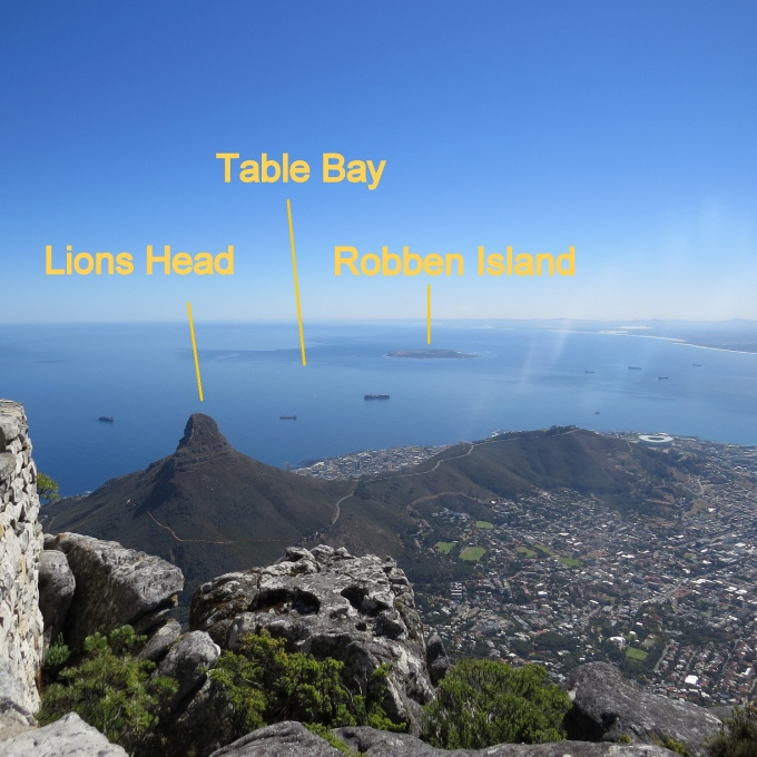 view from table mountain cape town south africa