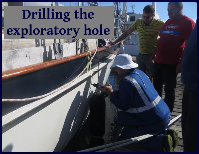 exploratory hole