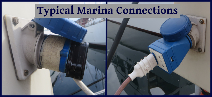 typical marina connection