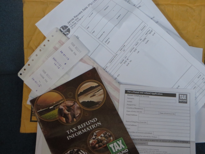 vat booklet and receipts