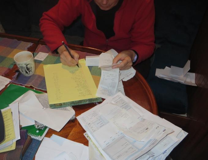 sorting vat receipts