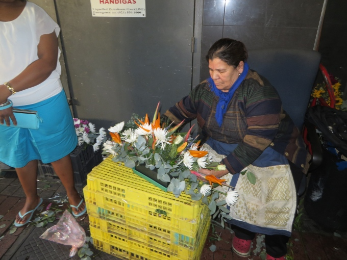 flower arranging flower market cape town south africa