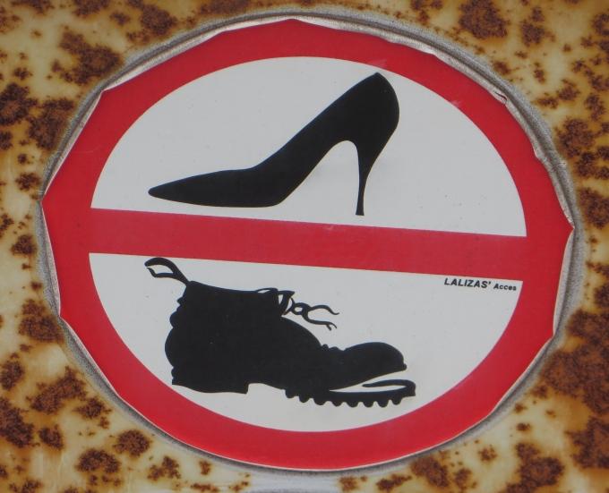 no heels no boots