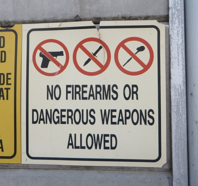 no weapons
