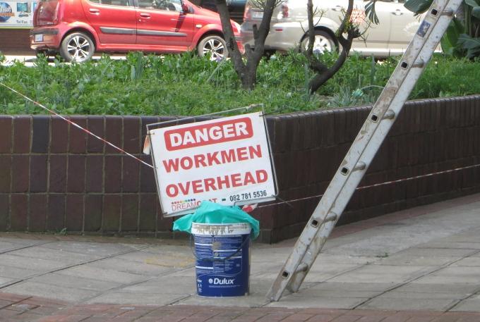 workmen overhead