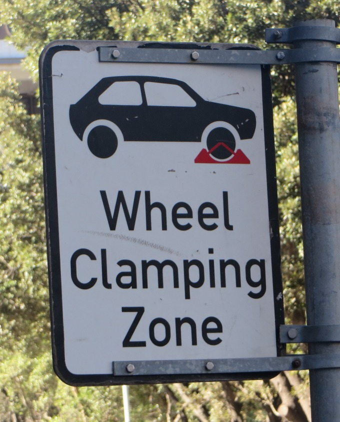 wheel clamping zone