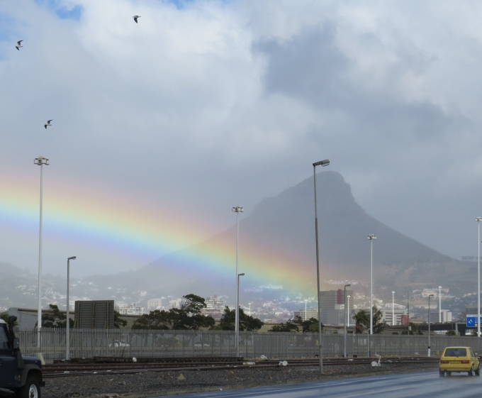 rainbow at cape town