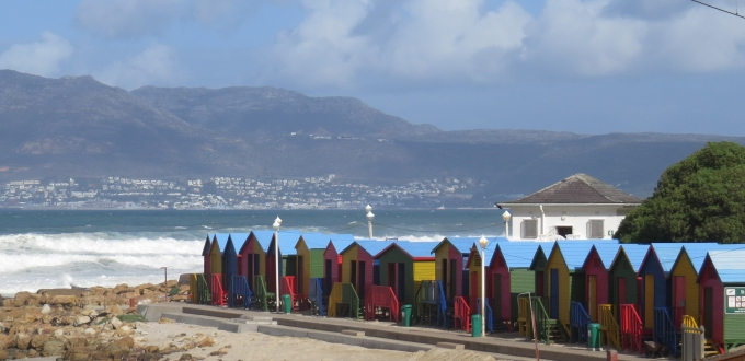 colorful surfer shacks