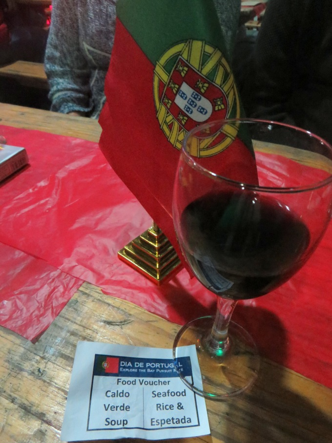 wine and portugal flag