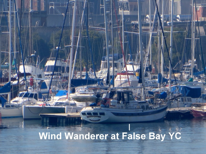 windwanderer at false bay yacht club