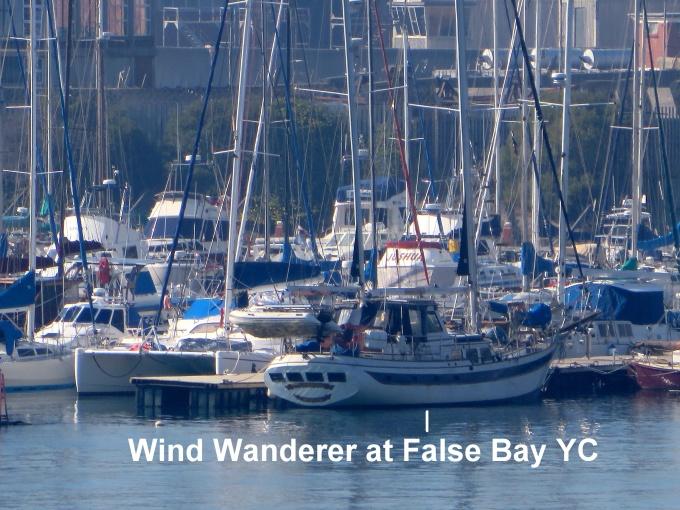 windwanderer at false bay yacht club