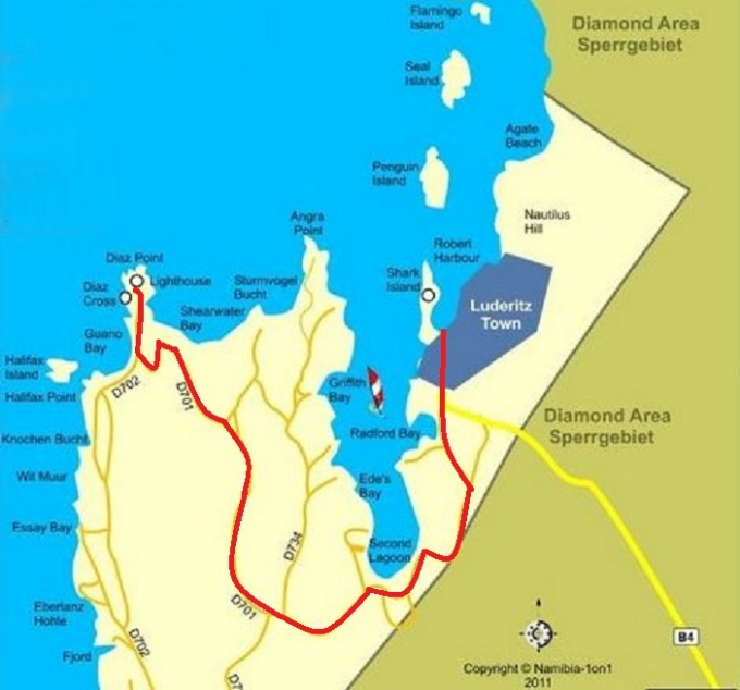 route to diaz point namibia