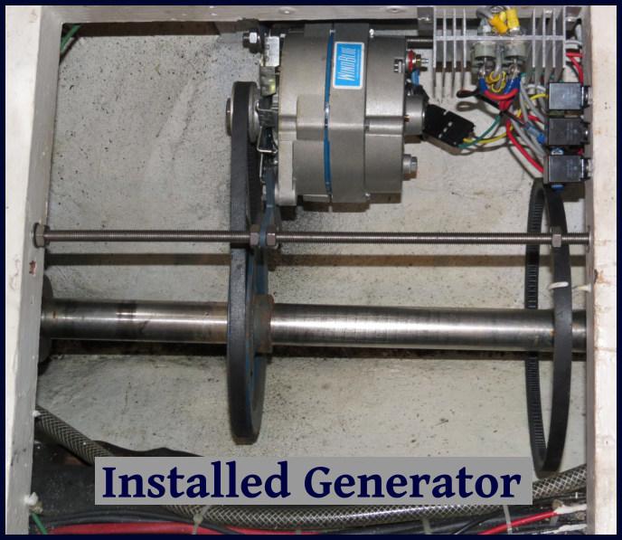 shaft generator installed