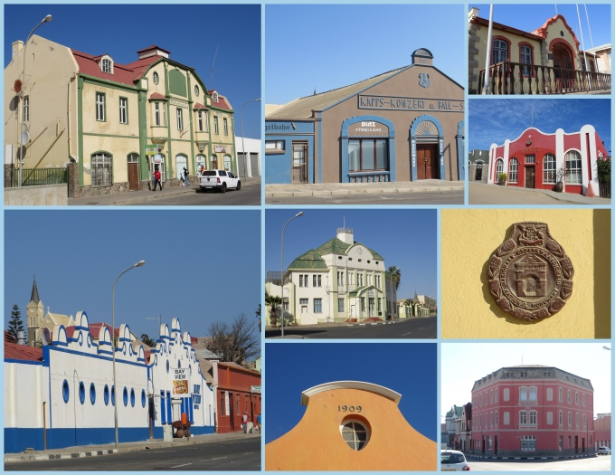 collage of buildings