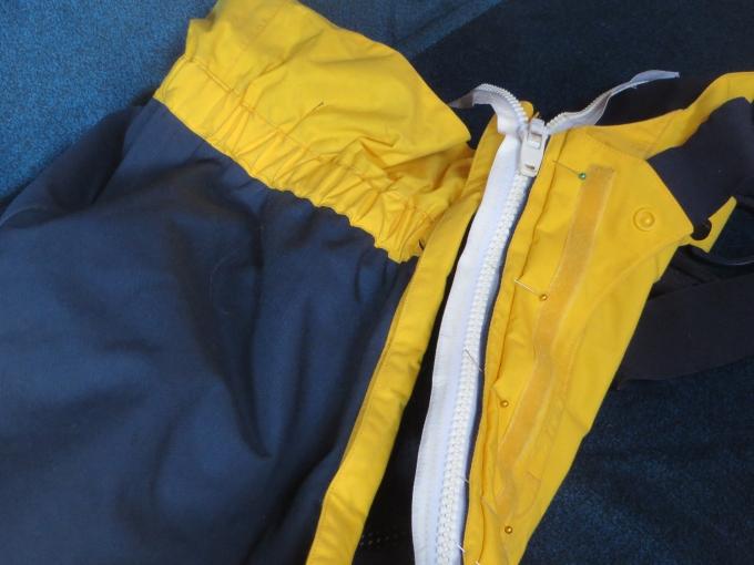new zipper on bibs