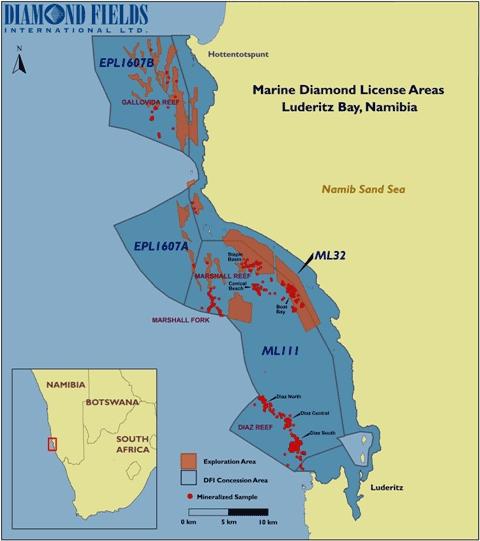 diamond license map lüdertiz