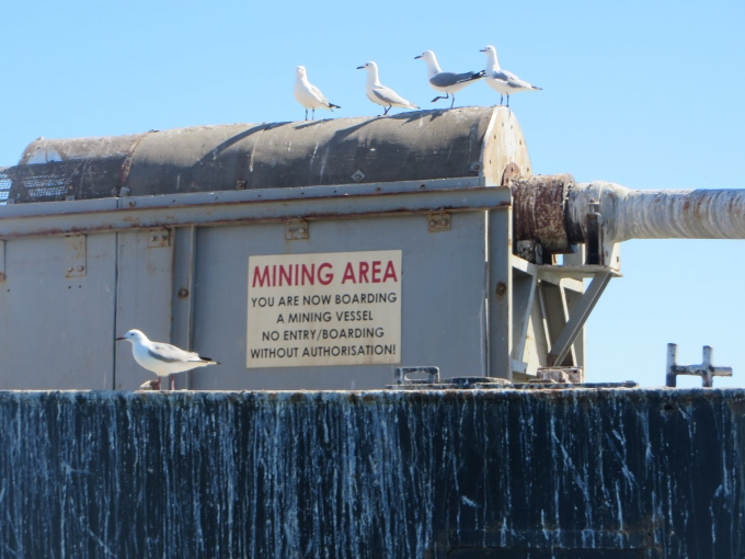 mining vessle sign luderitz