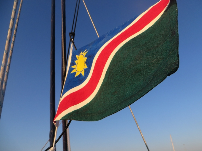 namibian flag flying