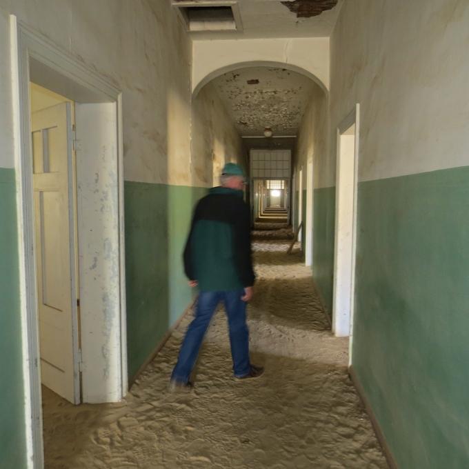 eerie hospital corridor kolmanskop namibia