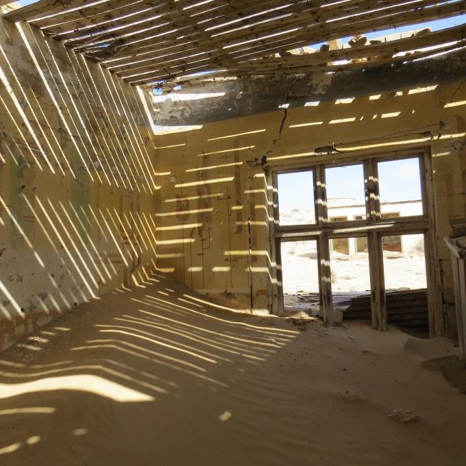 filtered light in kolmanskop namibia