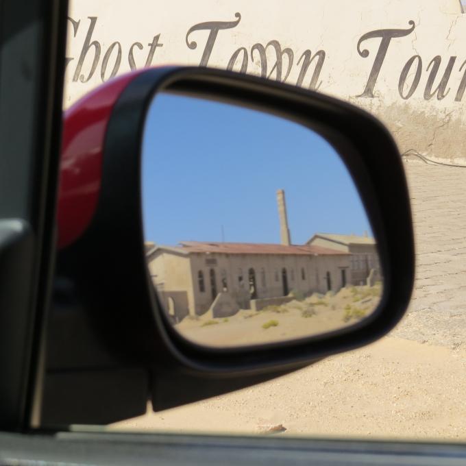 leaving kolmanskop namibia