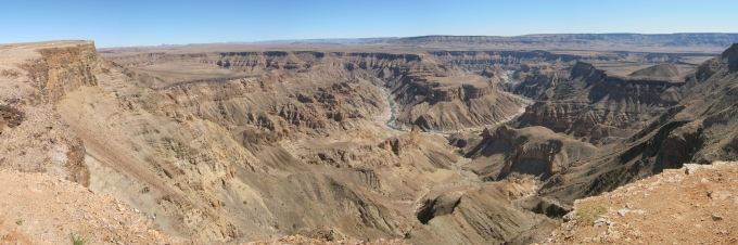 fish river canyon second largest