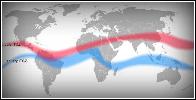 itcz january to july