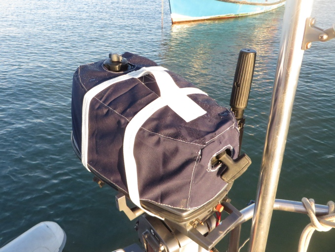 new dinghy engine cover