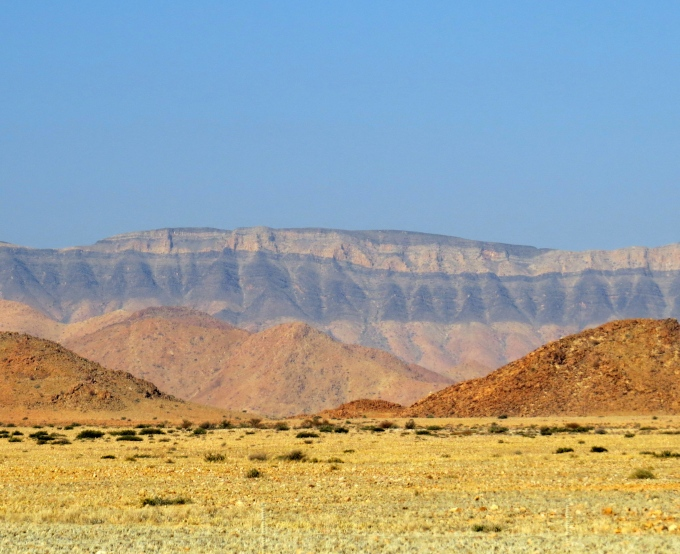 striations of color in namibia