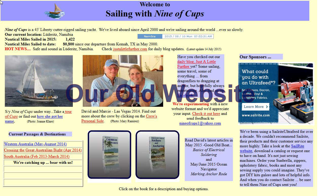 old web page