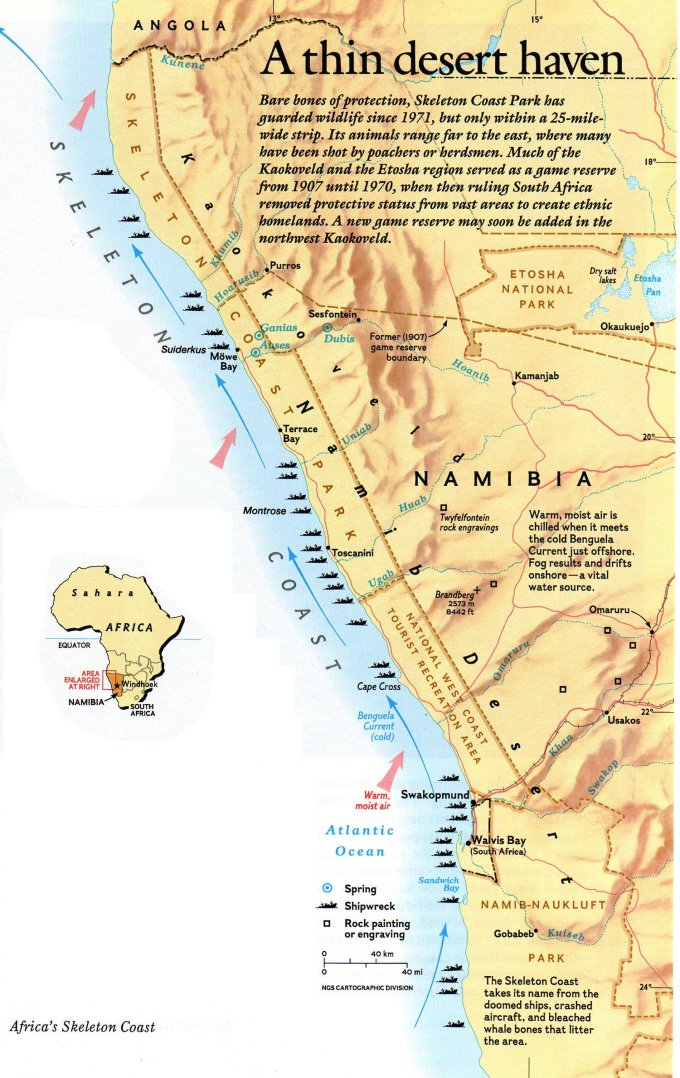 map of skeleton coast namibia