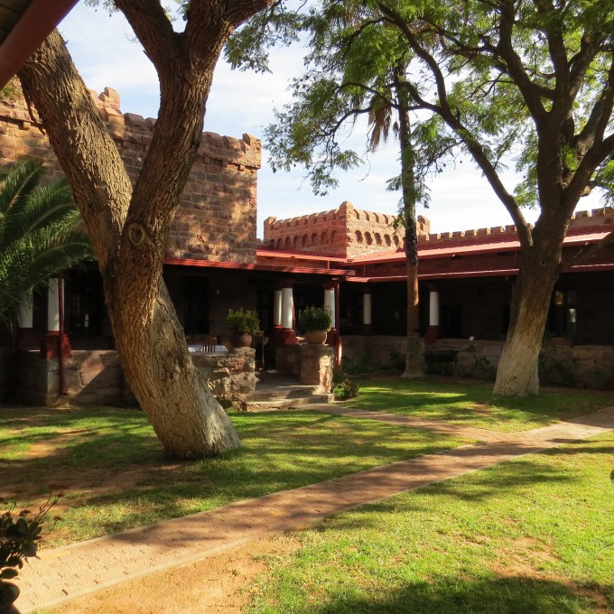 courtyard of duwisib castle namibia