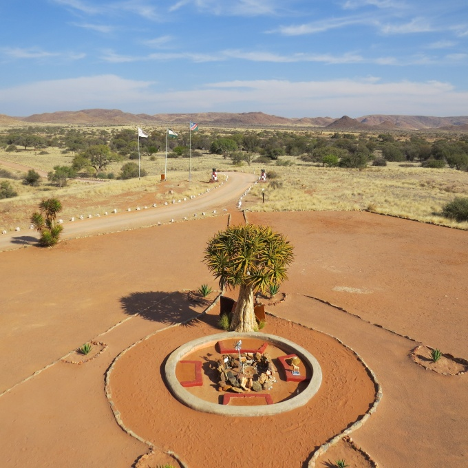 view from turret at duwisib castel namibia