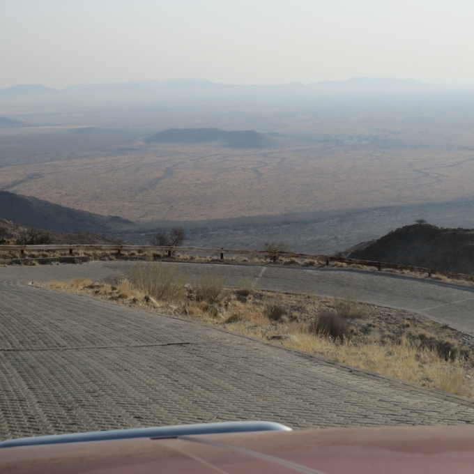 switchbacks on the pass in namibia