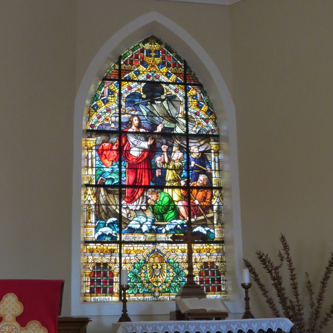 kaiser wilhelms stained glass in felsenkirche luderitz namibia