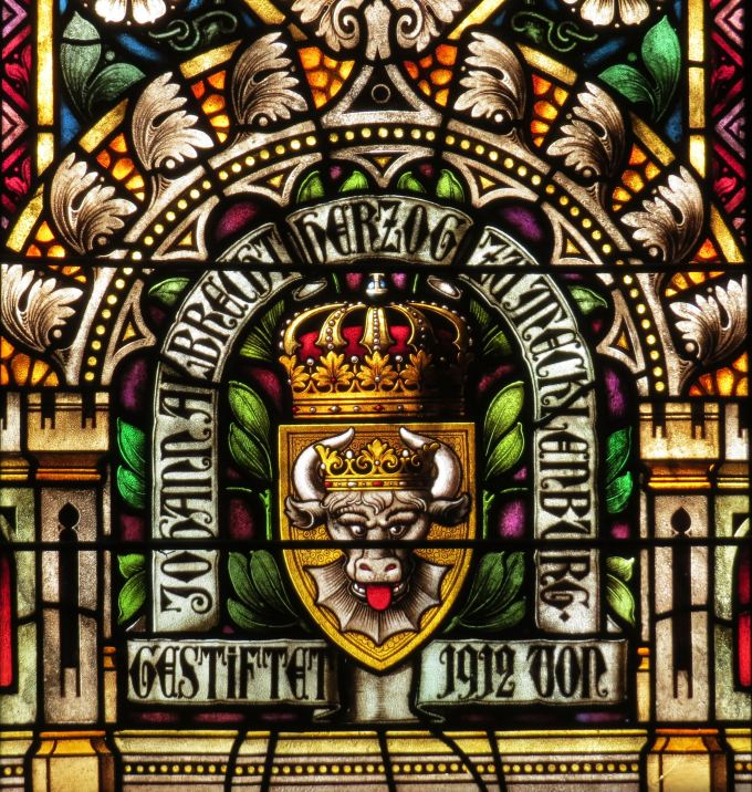 johan albrecht coat of arms felsenkirche luderitz namibia