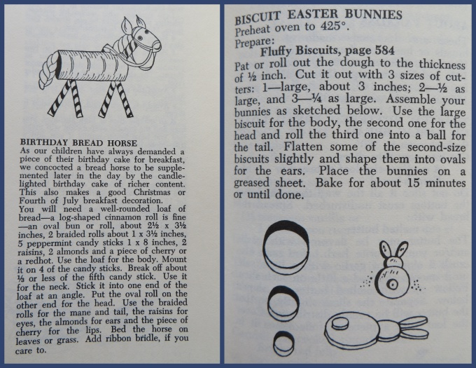 bread horse and bunny biscuits