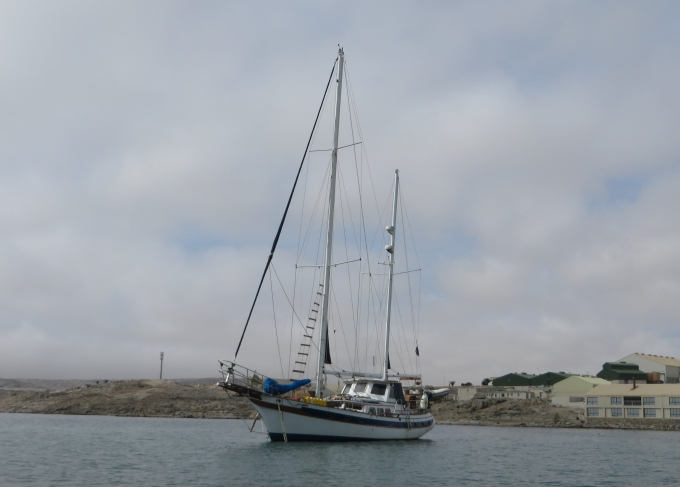 wind wanderer on her new mooring
