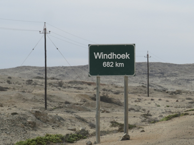 windhoek road sign