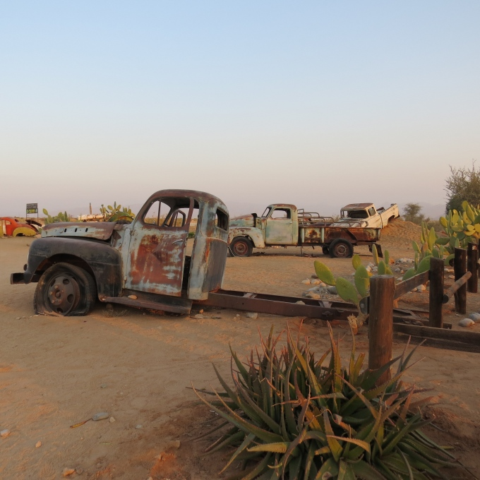 old cars and truck in solitaire namibia