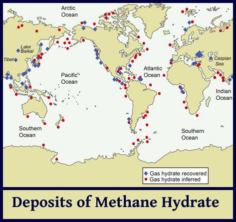 methane deposits chart
