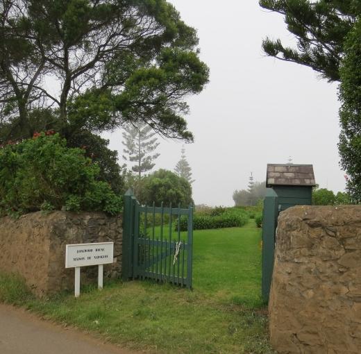 entrance to longwood on st. helena island