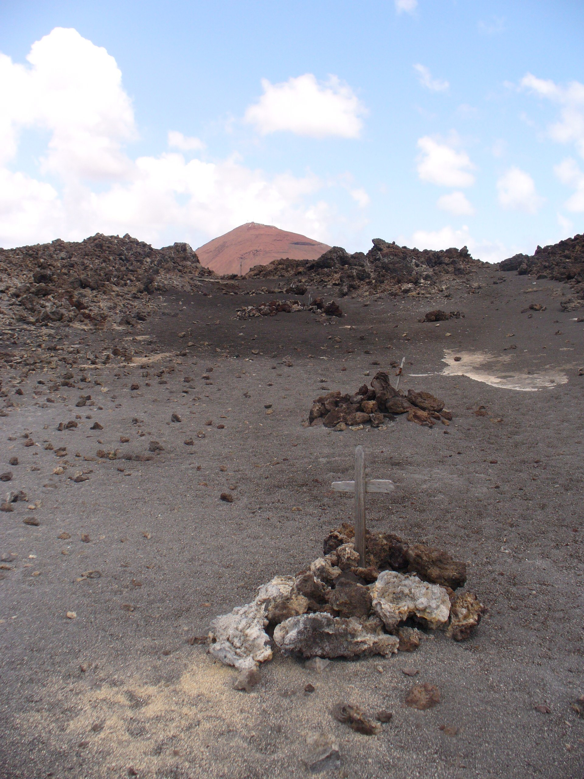 unknown graves amidst the rubble of ascension island