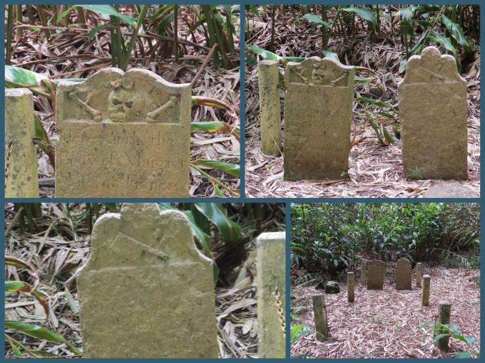 butcher gravestones on st. helena island