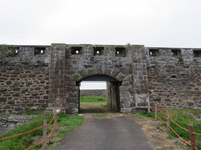 entrance to high knoll fort st. helena island