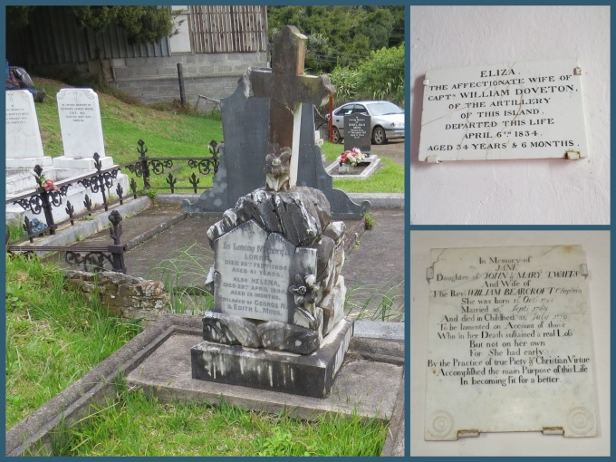 st. pauls gravestones st. helena island
