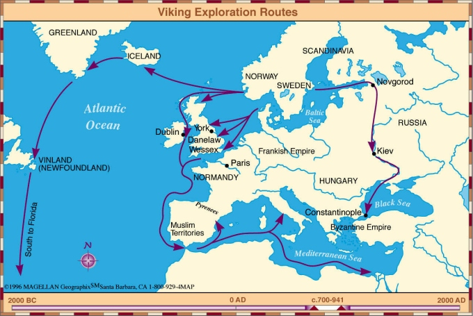 viking exploration routes