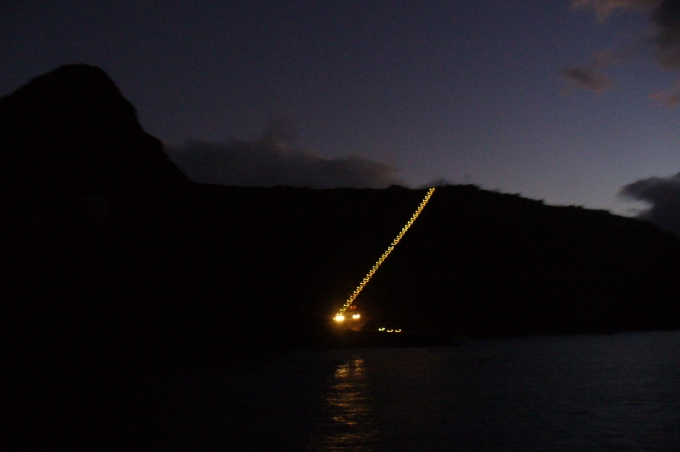 jacobs ladder at night st. helena island