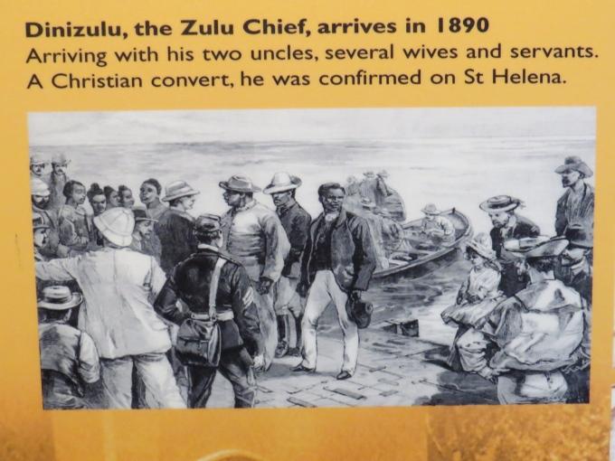 zulu chief captive on st. helena island